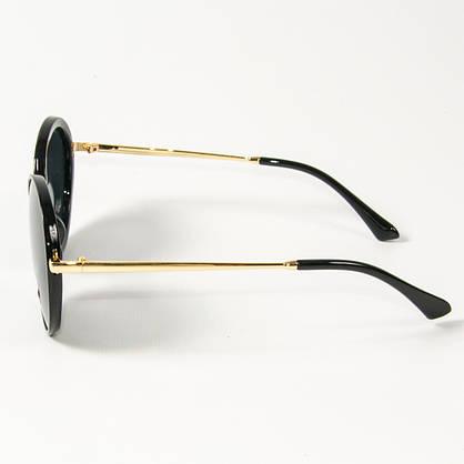 Оптом женские солнцезащитные поляризационные круглые очки  (арт. PCB77/2) черные, фото 2
