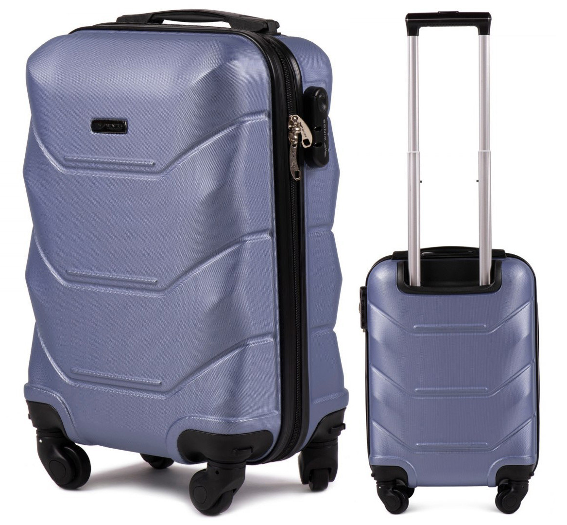 Чемодан пластиковый на 4 колесах Wings 147 Мини (XS) Ручная кладь Фиолетовый