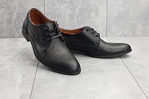 Мужские туфли кожаные весна/осень черные Yuves М111