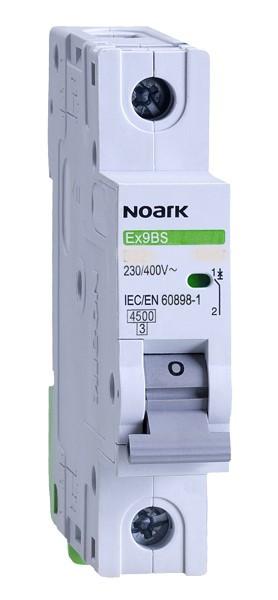 Автоматический выключатель однополюсный Noark Ex9BS 1P C63 для защиты электрических цепей переменного тока