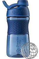 Спортивная бутылка-шейкер BlenderBottle SportMixer Twist 590ml Navy (ORIGINAL), фото 1