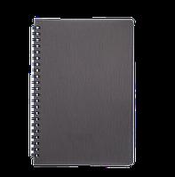Книжка записная на пружине А5 buromax bm.24552152-01 rain 80 листов в клетку черная обложка