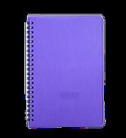 Книжка записная на пружине А5 buromax bm.24552152-07 rain 80 листов в клетку фиолетовая обложка