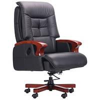 Кресло руководителя  Arthur директорское, кожа черная, коричневая