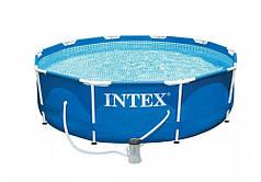 Бассейн каркасный с фильтр-насосом Intex Metal Frame 28202 305х76 см