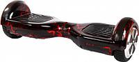 Гироборд - ГироскутерSmart Way 6.5 (Приложение к телефону,Bluetooth,самобаланс) Черный с красной молнией