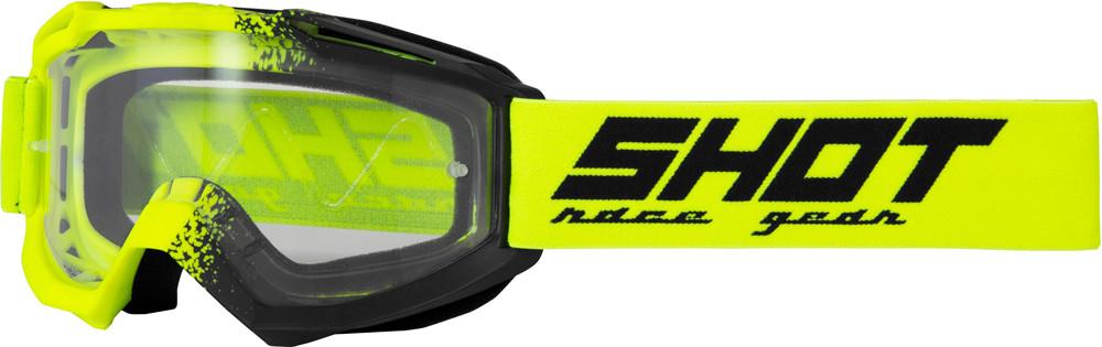 Очки кроссовые SHOT ASSAULT FUSION neon yellow