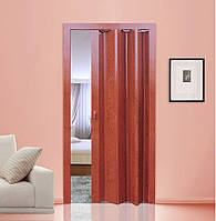 Дверь гармошка глухая МЕРБАУ Folding, раздвижные двери ПВХ пластиковые, межкомнатные двери, скрытые, складные