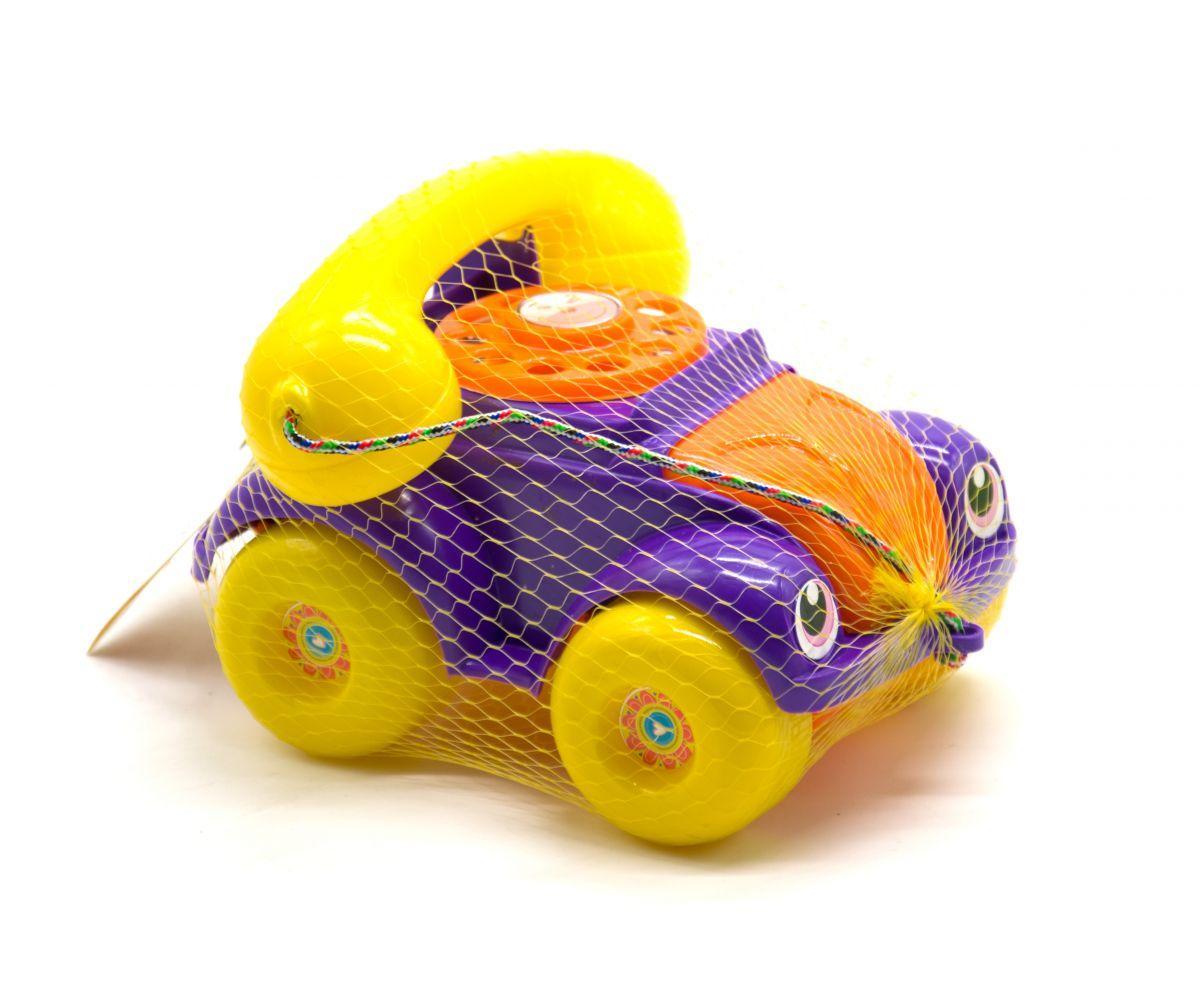"""Каталка ручная, для маленьких деток-машинка """"Телефон"""" (красная) Фиолетовый"""