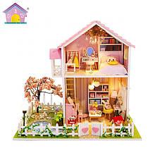 """3D Румбокс """"Будинок з Сакурою"""" - Ляльковий Дім Конструктор / DIY Doll House від CuteBee"""