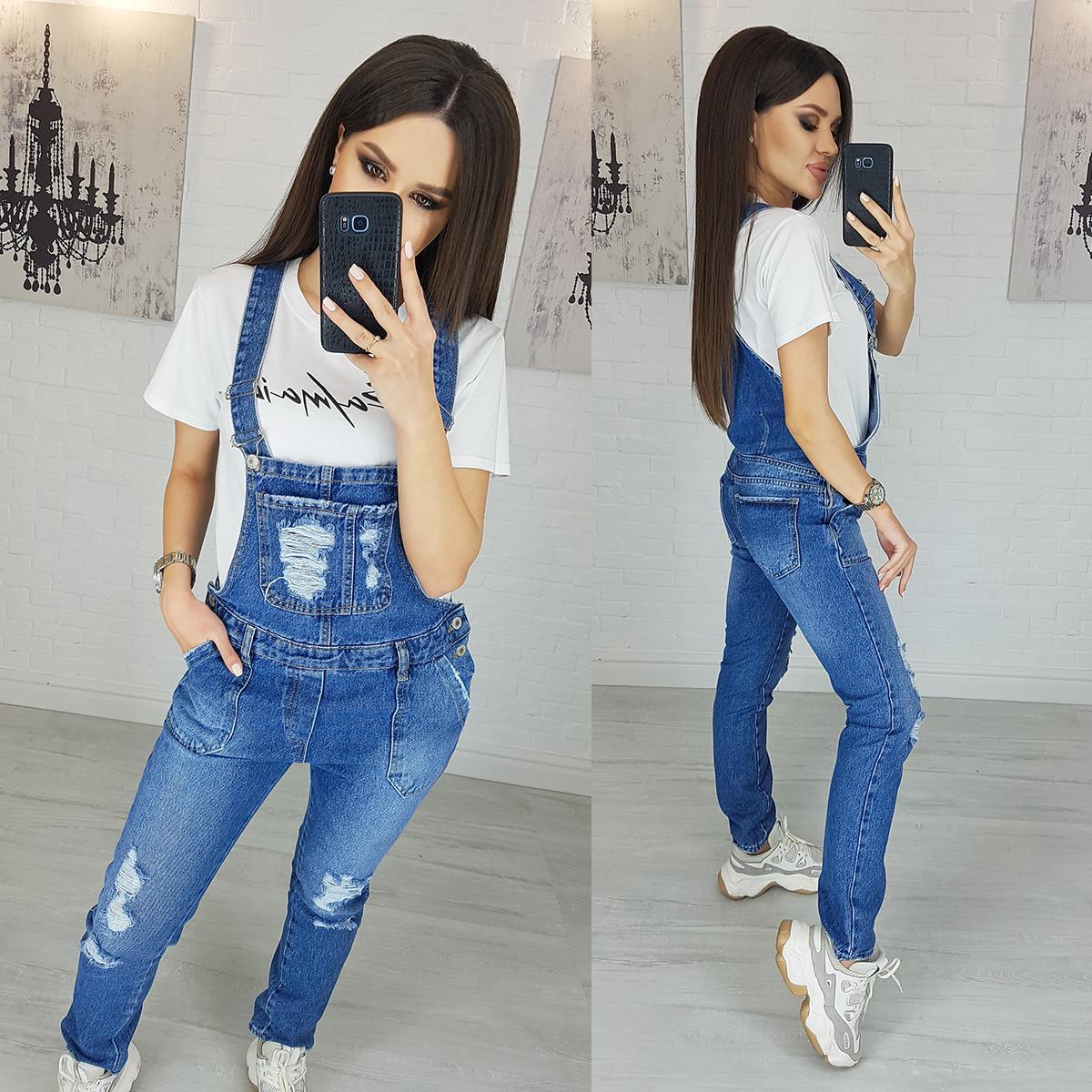 Комбинезон джинсовый с рванкой Xray 2933