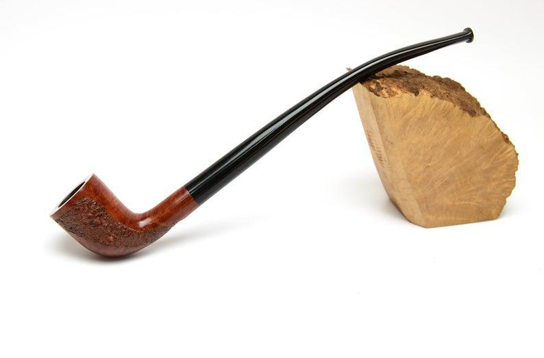 Курительная трубка бриар ручной работы Churchwarden на длинном мундштуке