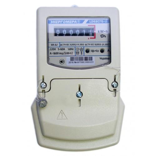 Счетчик однофазный ЦЭ6807Б-U K1.0 220B (5-60А) М6Ш6 Д2
