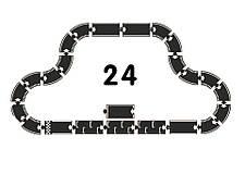 Гибкая автомобильная трасса Grand Prix (24 дорожных частей, длина 384 см) WAYTOPLAY, фото 2