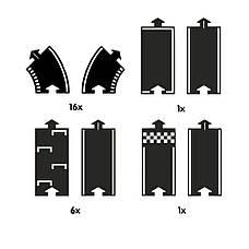 Гибкая автомобильная трасса Grand Prix (24 дорожных частей, длина 384 см) WAYTOPLAY, фото 3