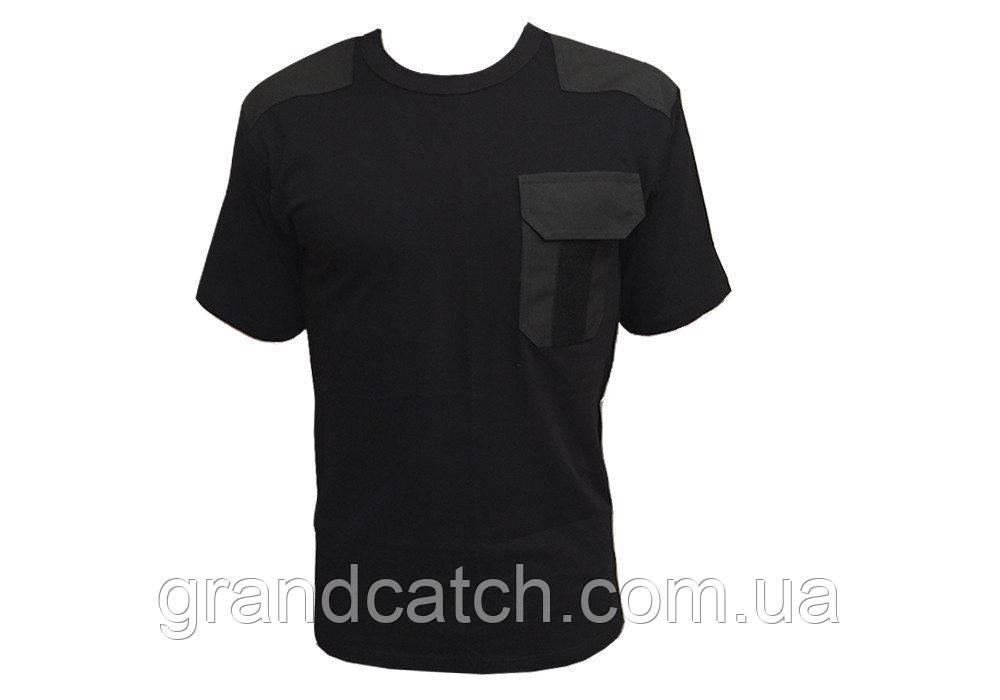 Футболка карман Черная