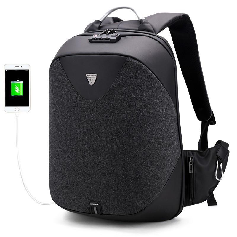 Стильный рюкзак для ноутбука Arctic Hunter B00208, многофункциональный, с кодовым замком, 24л