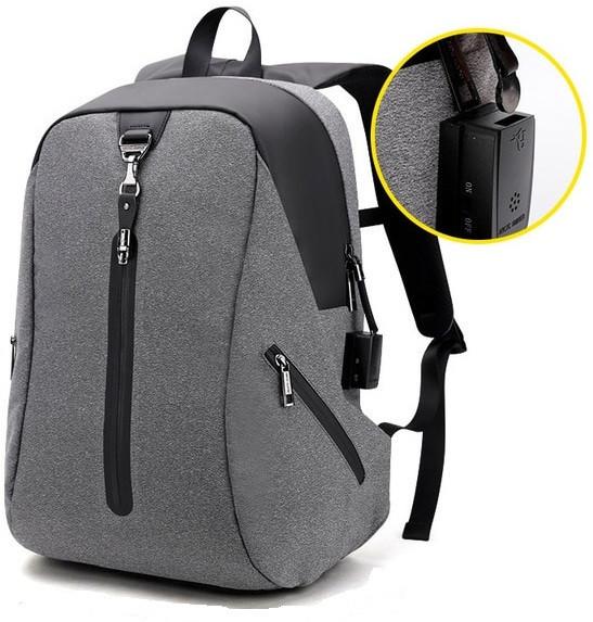 Стильный городской рюкзак Arctic Hunter B00162 со звуковой сигнализацией, 26л