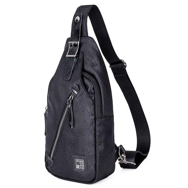 Городская сумка-рюкзак с одной лямкой через плечо и отверстием для наушников Arctic Hunter XB13006-B, 4л