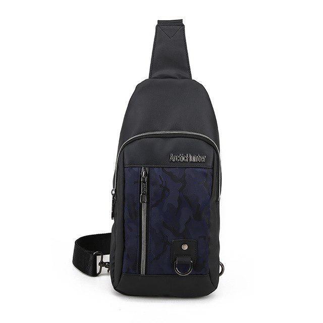 Влагозащищённый рюкзак-сумка с одной лямкой через плечо и отверстием для наушников Arctic Hunter XB00014, 4л