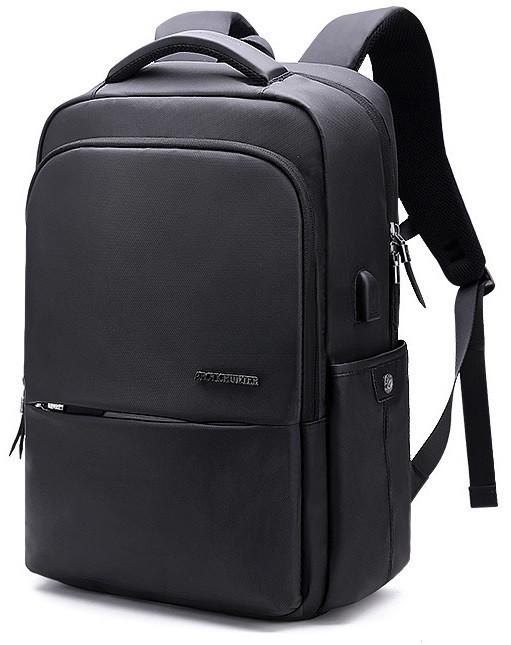 """Деловой классический рюкзак для ноутбука до 15,6"""" Arctic Hunter B00069, влагозащищённый, с USB портом, 23л"""