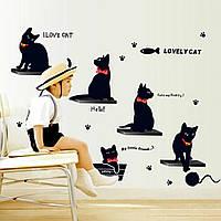 "Декоративная наклейка на стену ""Кошки""  (v35478)"