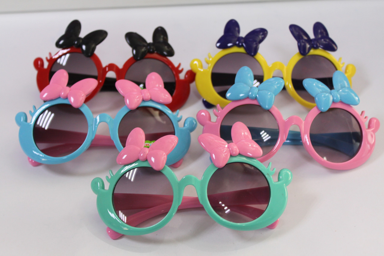 Детские солнцезащитные очки для девочки с бантиками 1 шт.