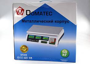 Рыночные электронные торговые весы со счетчиком цены на 50кг Domotec DT208, фото 3