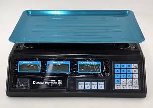 Рыночные электронные торговые весы со счетчиком цены на 50кг Domotec DT208, фото 2