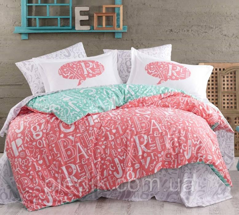 Комплект постельного белья 200х220 HOBBY Poplin Dream коралловый 42930_2,0
