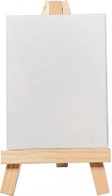 Холст грунтованный Santi мелкозернистый на подрамнике с декоративным мольбертом, 8*6 см.