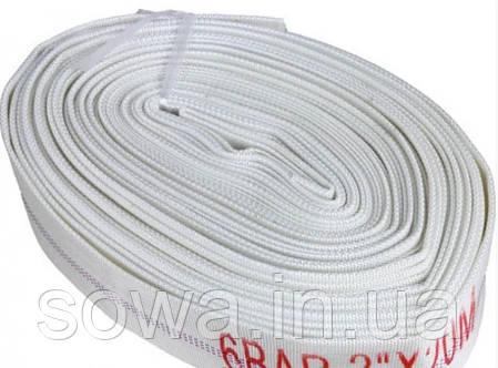 ✔️ Шланг пожарный прорезиненный 20 м. (Белый) без наконечников, фото 2