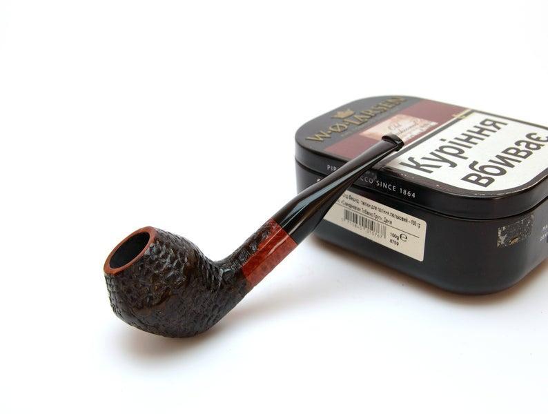 Курительная трубка из бриара формы Bulldog ручной работы