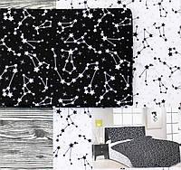 Комплект постельное белья черно-белого цвета Хлопок 100%