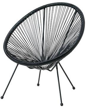 Лаунж кресло круглое садовое черное , фото 2