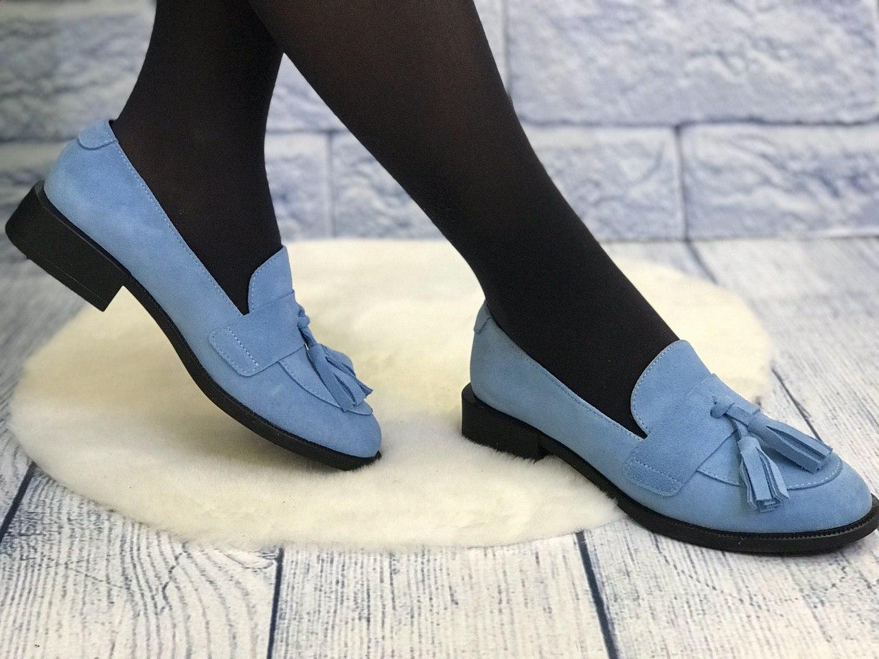 Замшевые туфли лоферы женские весна лето осень кожа низкий каблук туфли размеры 36-41