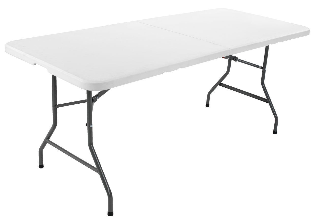 Садовый большой пластиковый раскладной стол - чемодан 180 см белый