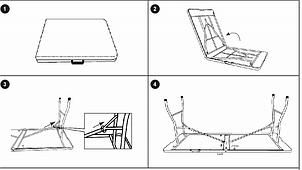 Садовый большой пластиковый раскладной стол - чемодан 180 см белый, фото 2