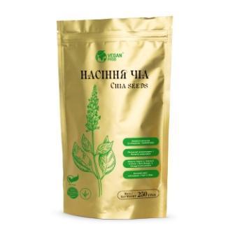 Семена Чиа черные перуанские,  источник белка для похудения и набора веса,  дой-пак 250 г тм Veganprod