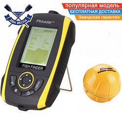 Беспроводной рыбацкий эхолот Phiradar FF268W для зимней и летней рыбалки со встроенным в голову аккумулятором
