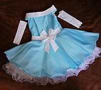 Стиляги детское нарядное платье в горох