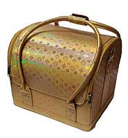 Сумка-чемодан для мастера маникюра, парикмахера и визажиста YRE-2700-3 (золотой)