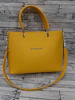Стильная Женская сумка из кожзама Michael Kors . Желтая