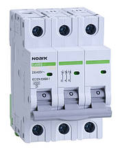 Автоматичний вимикач трьохполюсний Noark Ex9BS 3P C16 для захисту електричних ланцюгів змінного струму