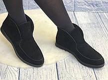 Удобные и стильные замшевые туфли лоферы женские весна лето осень кожа размеры 36-40, фото 3