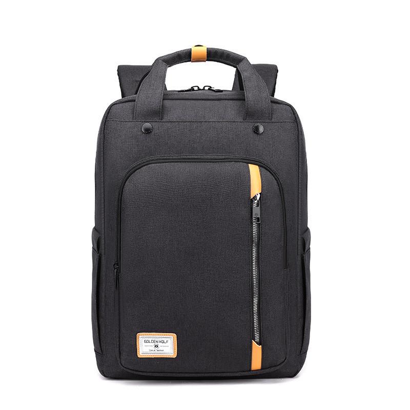 Тканевый городской рюкзак Golden Wolf GB00363 для ноутбука до 15,6, USB портом и отверстием для наушников, 20л