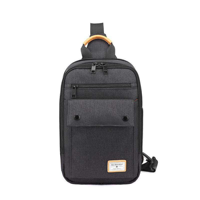 Тканевый городской рюкзак Golden Wolf GXB00110, с одной лямкой, расширителем и отверстием для наушников, до 8л