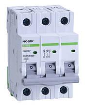 Автоматичний вимикач трьохполюсний Noark Ex9BS 3P C20 для захисту електричних ланцюгів змінного струму