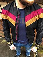 Мужская куртка-бомбер черная ZM22, фото 1