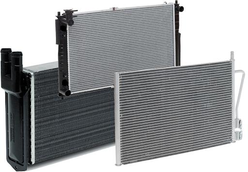 Радиатор охлаждения двигателя PASSAT2/SANTANA/POLO 83- (Van Wezel). 58002011